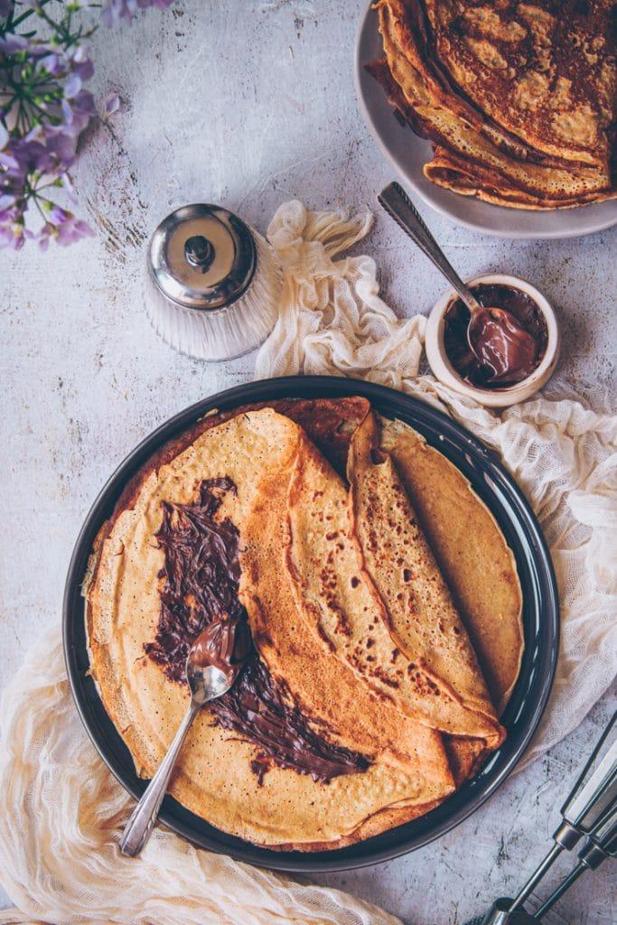 crêpes à la farine de petit épeautre - par confitbanane