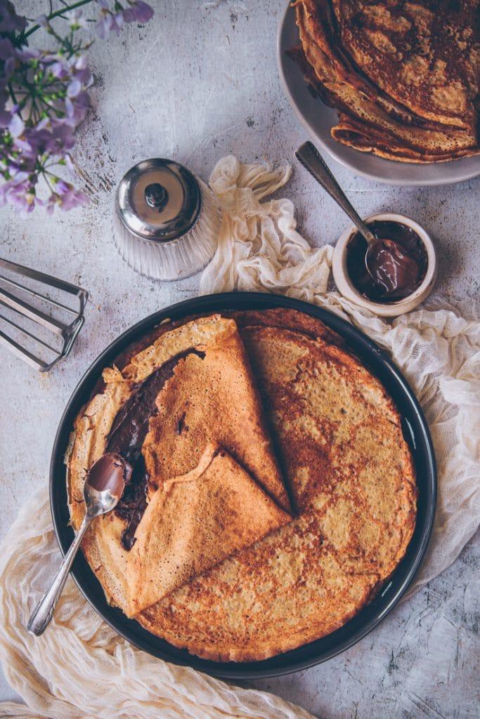 recette de crêpes à la farine d'épeautre - par confitbanane