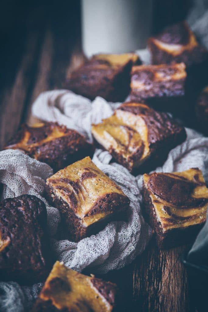 recette de brownie marbré à la vanille - confitbanane