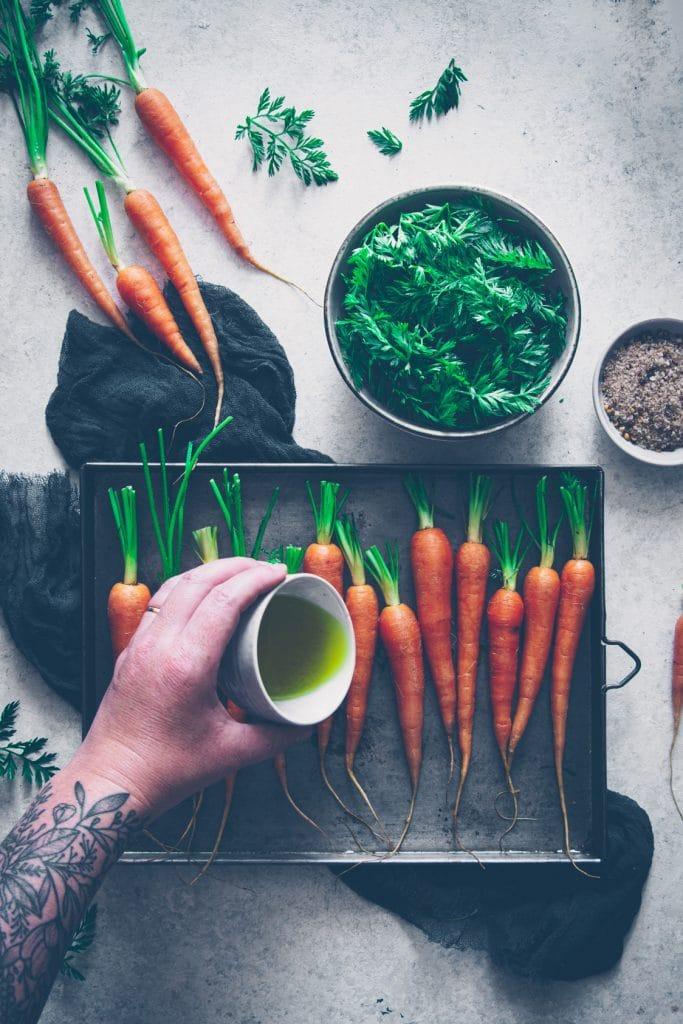 recette pour cuisiner les carottes avec leurs fanes - confitbanane