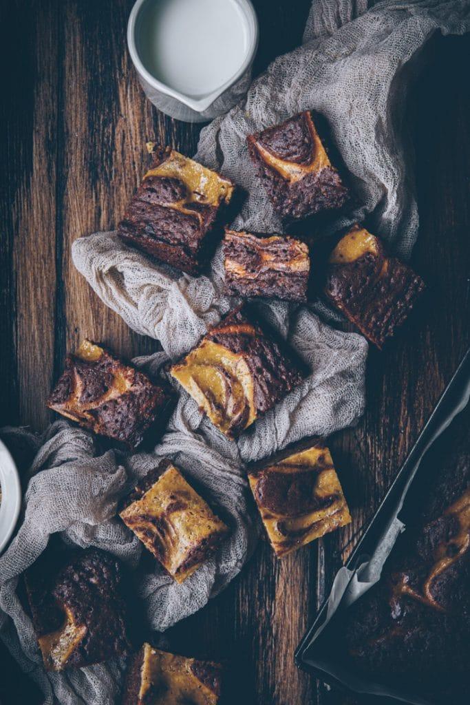 meilleur brownie marbré facile - confitbanane