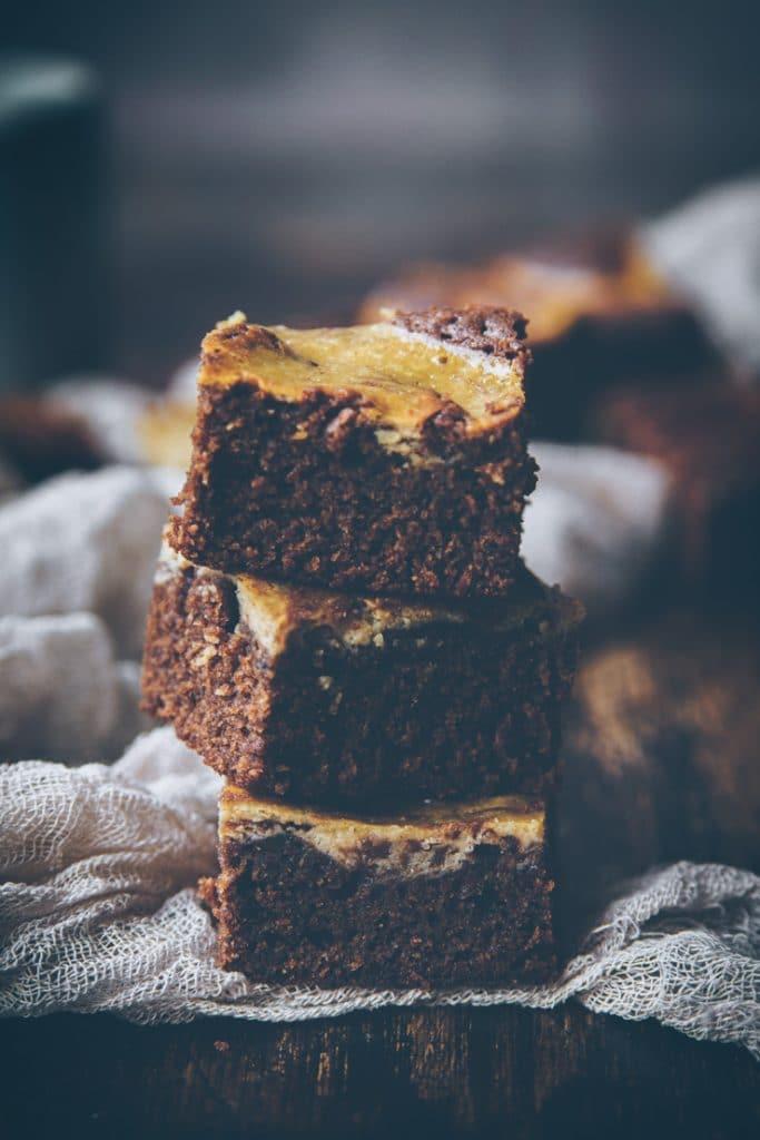 recette de brownie au chocolat & marbré à la vanille - confitbanane