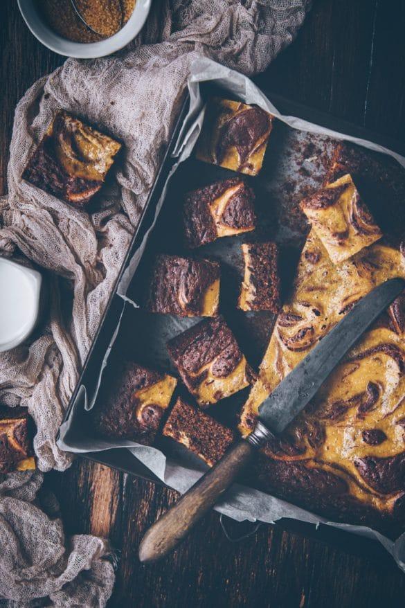 recette de brownie au chocolat marbré à la ricotta facile - confitbanane