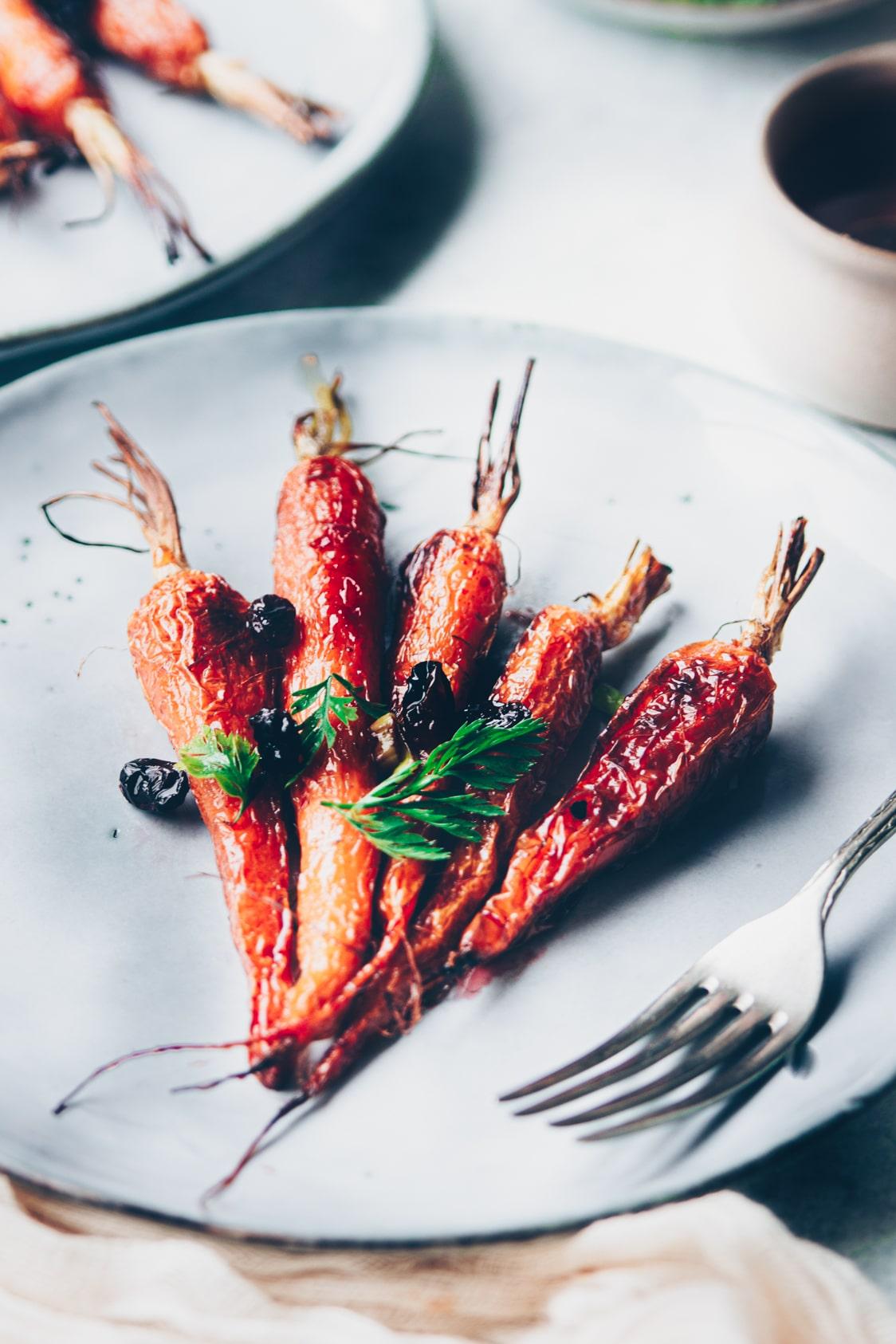 carottes lacquées au miel au four