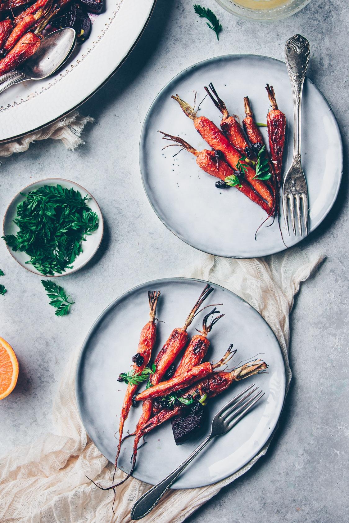 recette facile et rapide de carottes nouvelles lacquées au miel - confitbanane