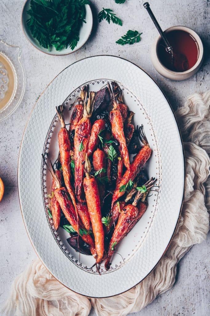 meilleure recette de carottes fanes rôties au four - confitbanane