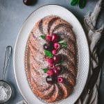 recette de cake au mascarpone et framboise - confitbanane