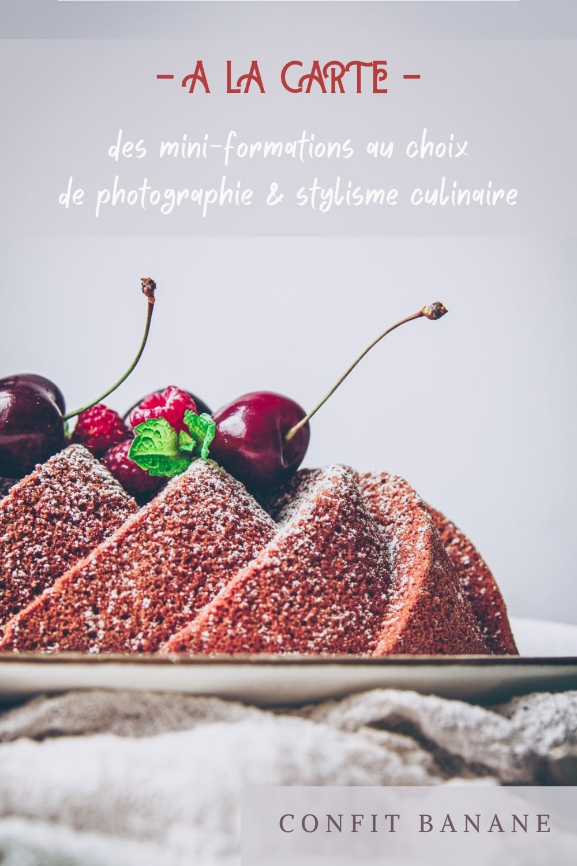 minis cours de photographie & stylisme culinaire en live