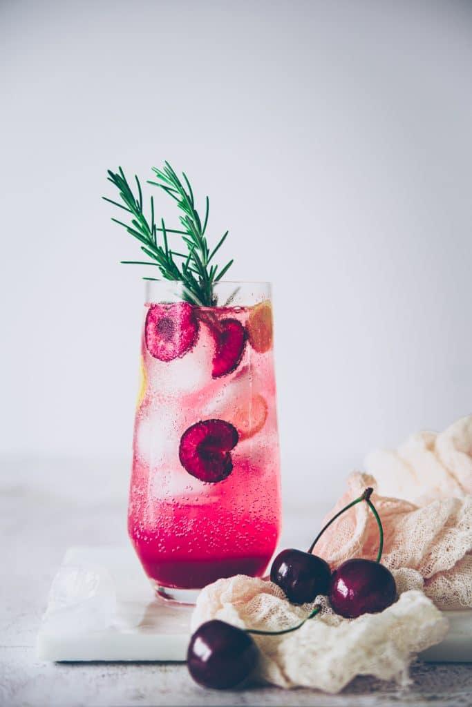 cherry lemonade recipe photography - confitbanane