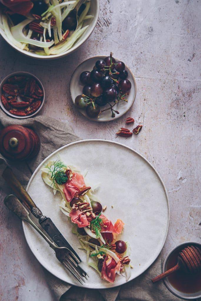 salade de fenouil aux raisins -confitbanane