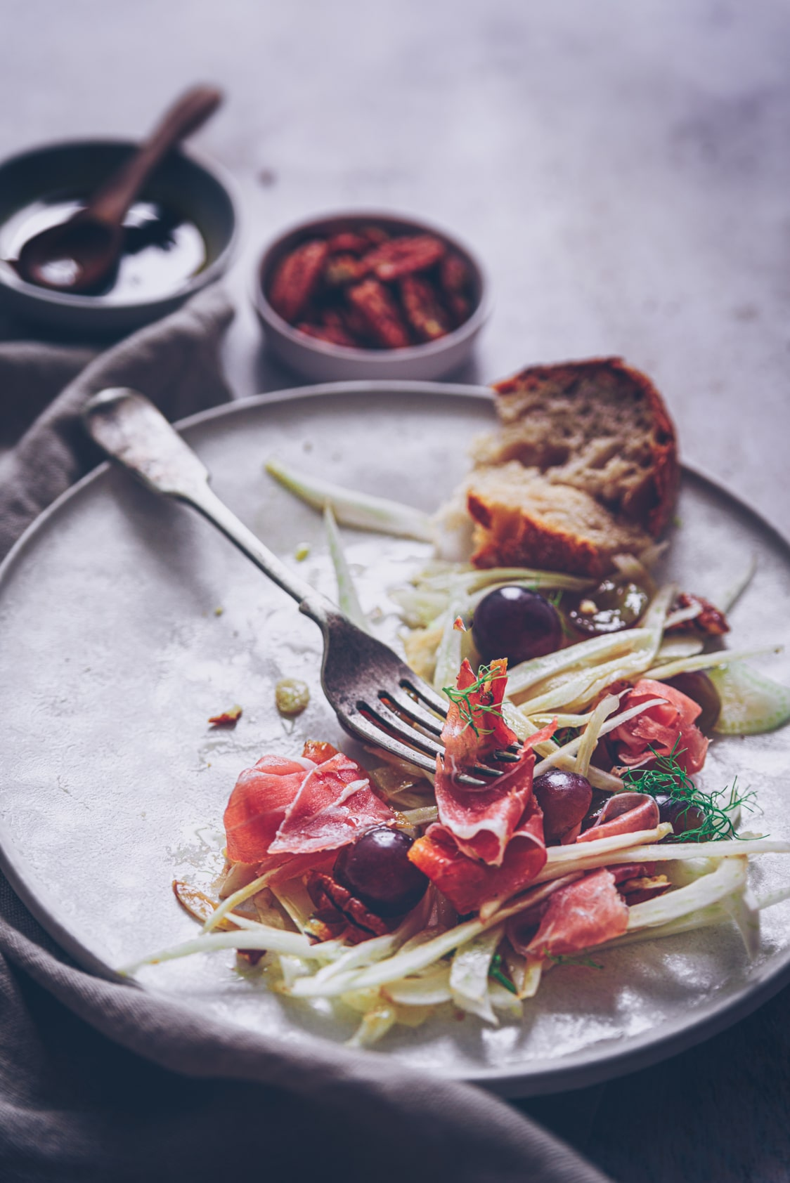 salad recipe fennel photography - confitbanane