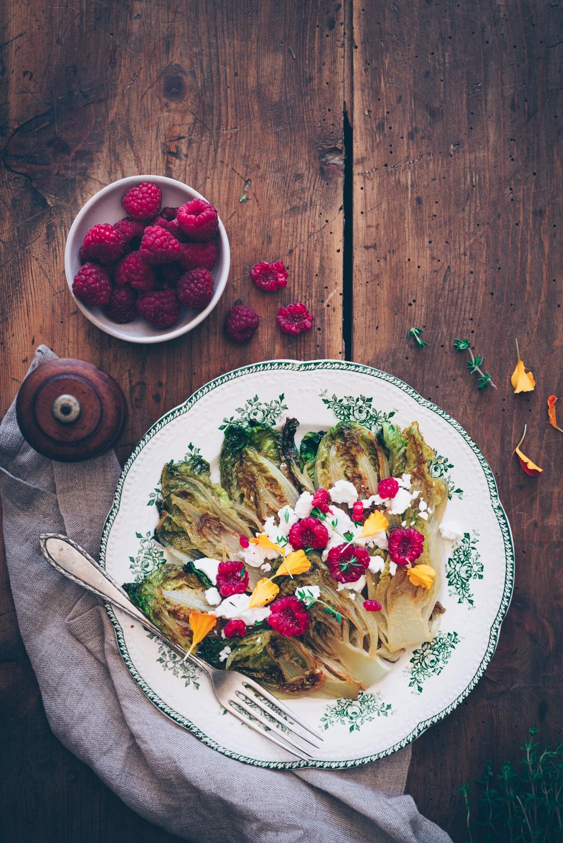 braised lettuce salad recipe