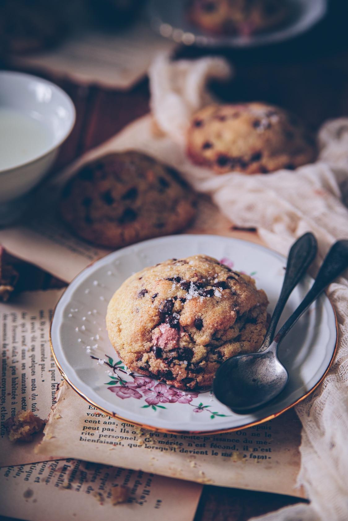 recette de cookies facile aux pépites de chocolat et fleur de sel