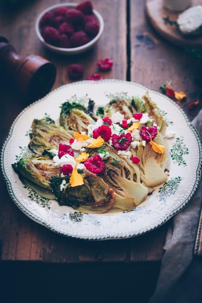 Recette de salade de sucrines braisées au chèvre - confitbanane