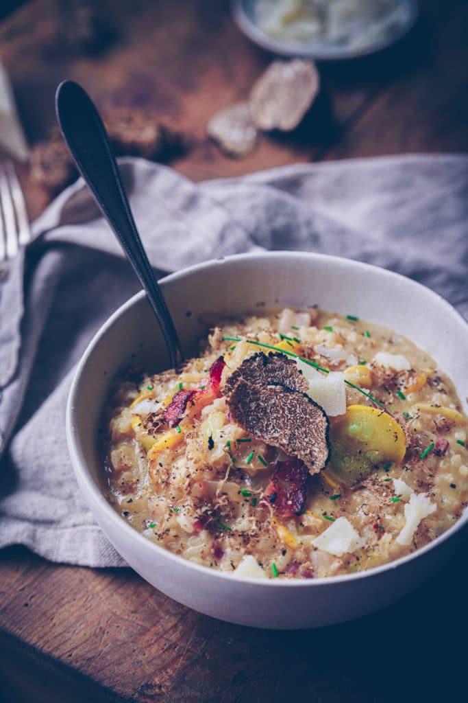 Photo de risotto à la truffe d'été - confitbanane