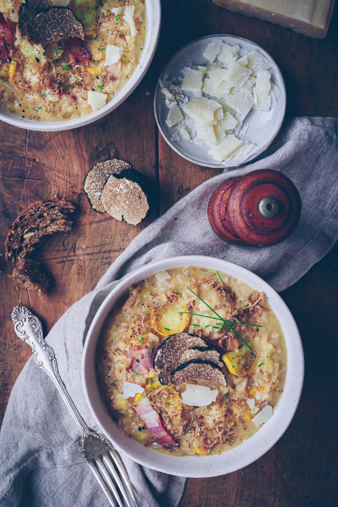 recette et photo de risotto à la truffe