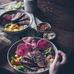 recette de poke bowl de canard facile