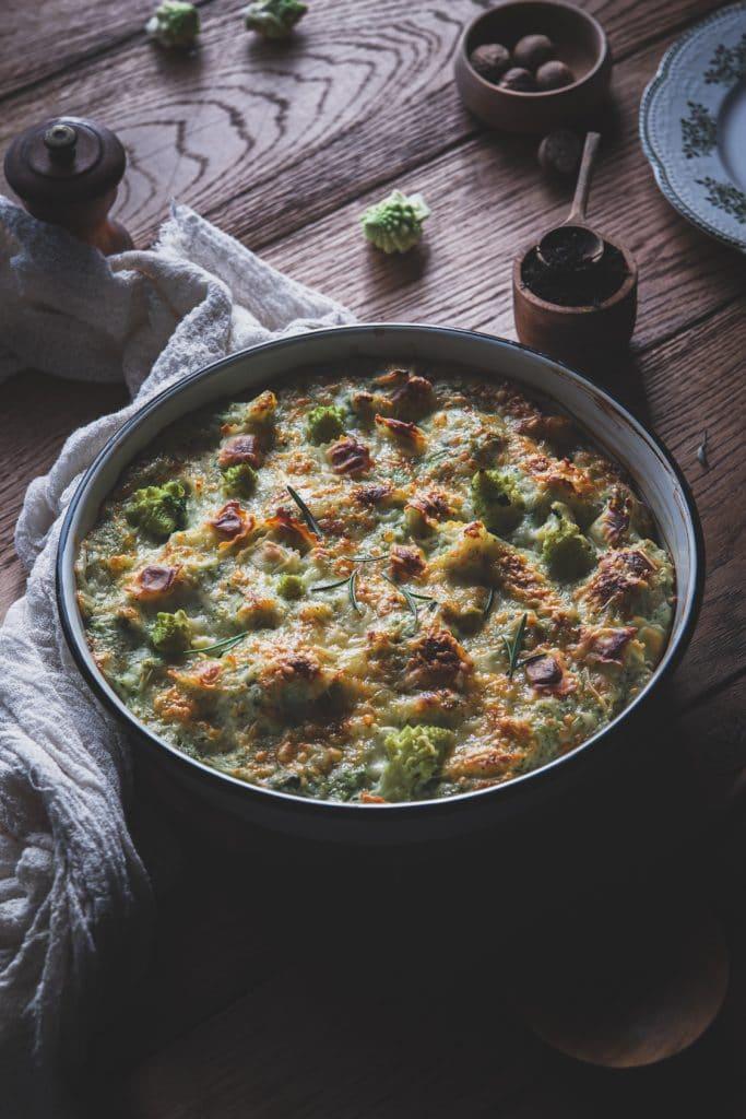 recette de gratin de brocolis et ravioles de roman