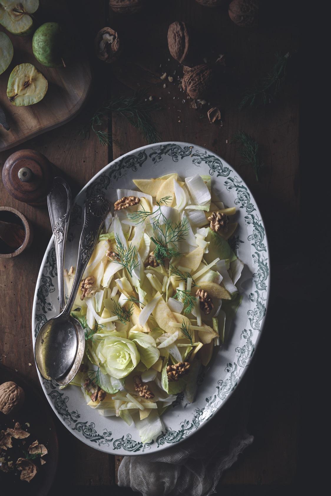 recette d'automne facile aux endives, pomme, fenouil & fromage de brebis
