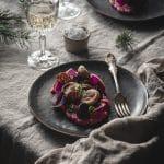 Idée de plat de Noel jolie au boudin blanc