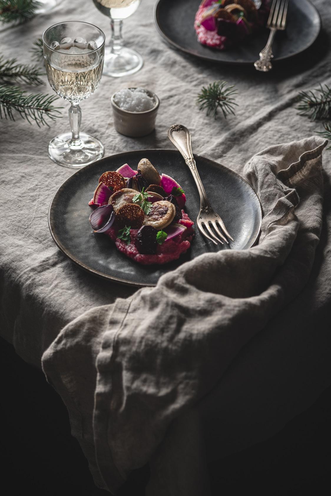 recette de Noel avec du boudin blanc